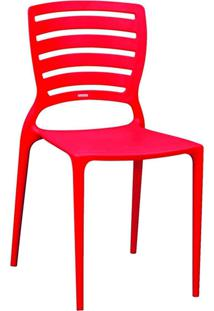 Cadeira Sofia Monobloco Vermelha Hexa Horizontal Tramontina
