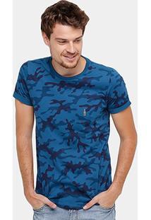 Camiseta Rock & Soda Camuflada Masculina - Masculino