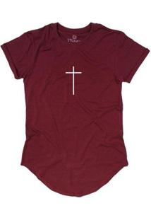 Camiseta Longline Stoned Faith Masculina - Masculino-Bordô
