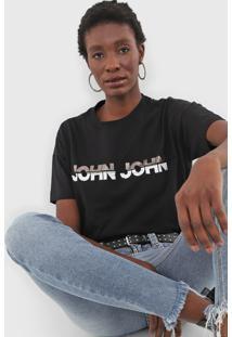 Camiseta John John Tie Preta