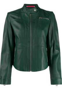 Ps Paul Smith Jaqueta Biker Com Zíper - Verde