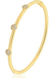 Pulseira Toque De Joia Bracelete Esferas Dourado - Tricae
