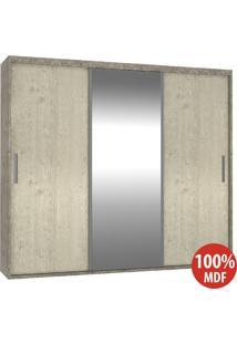 Guarda Roupa 3 Portas C 1 Espelho 100% Mdf 1985E1 Demol/Marfim Areia - Foscarini