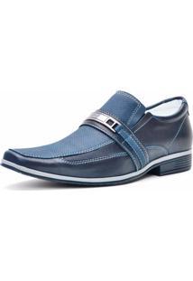 Sapato Social Jeans Florense Azul