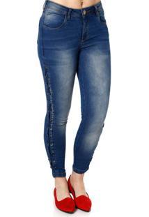 ... Calça Jeans Skinny Feminina Über Azul 5f36fc8de42f7