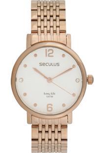 Relógio Seculus 28969Lpsvra2 Rosa