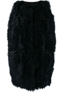 Marni Sherling Fur Gilet - Azul