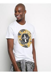 Camiseta Coca-Cola True Taste Masculina - Masculino-Branco