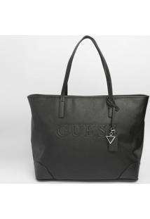 Bolsa Guessâ® Com Recortes- Preta- 33X40X18Cm- Guguess