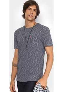 Camiseta Redley Rajada Detalhe Bolso Masculina - Masculino-Preto