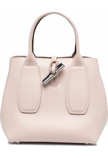 Longchamp Bolsa De Mão Roseau Top - Rosa