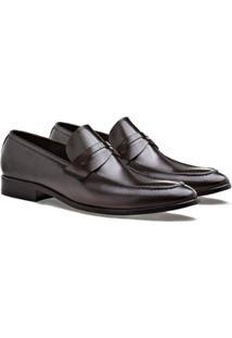 Sapato Social Brogan Loafer Toledo Moss Masculino - Masculino-Marrom Escuro