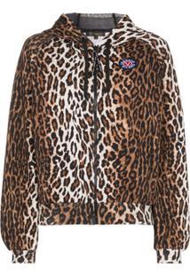 Versace Blusa De Moletom Animal Print - Marrom