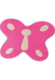 Tapete Formato Premium Big 1,14Mx88Cm Borboleta Feliz Pink Guga Tapetes