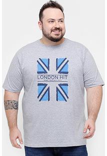 Camiseta Eagle Brasil Plus Size London Hit Masculina - Masculino