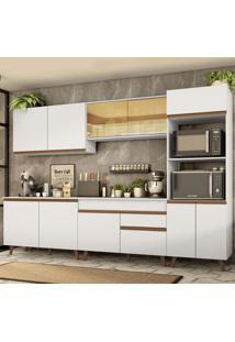Cozinha Completa Madesa Reims 310001 Com Armã¡Rio E Balcã£O - Branco Branco - Branco - Dafiti