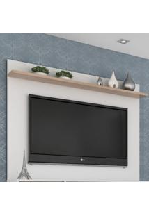 Painel Para Tv Até 50 Polegadas Friso Siena E Branco 180 Cm