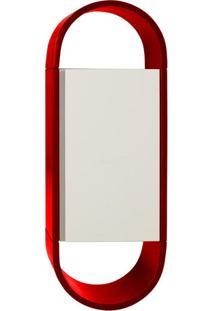 Armário Aéreo Para Banheiro 1 Porta Wish Máxima Vermelho/Branco