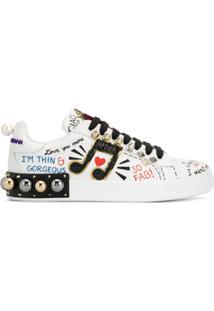 fae3078109 Dolce & Gabbana Tênis Portofino Com Aplicações - Branco
