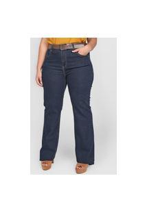 Calça Jeans Cantão Bootcut Pespontos Azul