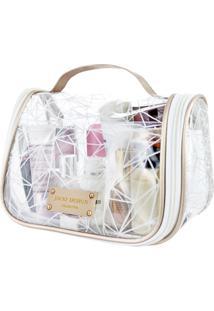 Necessaire De Viagem Transparente Jacki Design Crystal Branco