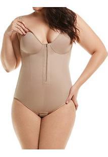 Body Modelador Amamentação Com Zíper Mondress (305) Plus Size