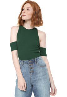 Blusa Triton Off Shoulders Verde