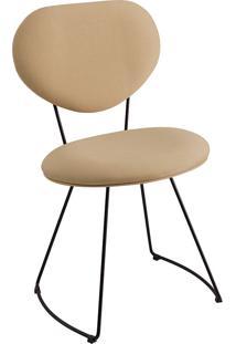 Cadeira Milão Meia Lua T1073-Daf Mobiliário - Bege