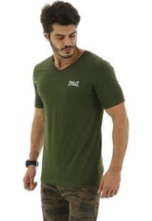 Camiseta Algodão Básica - Masculino-Verde Militar