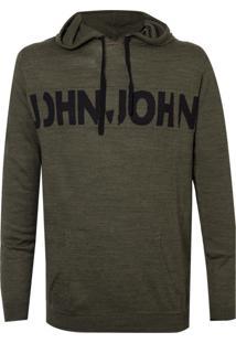 Blusa John John Tricot Pedro Verde Militar Masculina (Verde Militar, G)