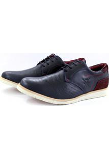 Sapato Masculino Confortável Tchwm Shoes Azul