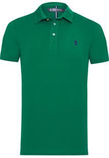 Polo Masculina Básica - Verde