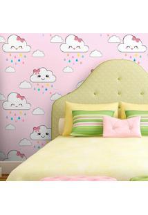 Papel De Parede Nuvens Cute Rosinha