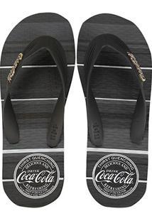 Chinelo Coca-Cola Quenching Masculino - Masculino-Preto