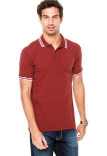 Camisa Polo Colcci Logo Vinho