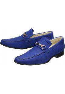Sapato Social Mafisa - Masculino-Azul