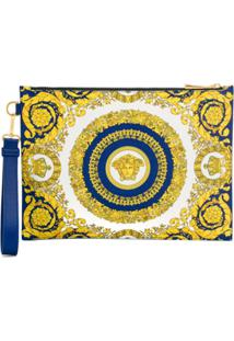 Versace Baroque Print Clutch - Azul