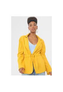 Blazer Colcci Alongado Amarelo