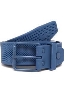 Cinto Lacoste Texturizado Azul-Marinho