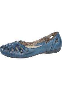 Sapatilha Lelive Calçados Rustica Azul Petróleo