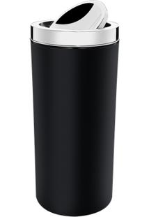 Lixeira Com Tampa Basculante Inox 9 L - Decorline Lixeiras Ø 19 X 38 Cm 9 L Preto Brinox