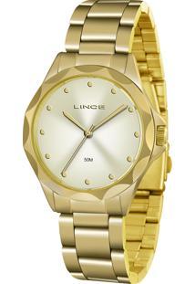 Relógio Analógico Lince Feminino - Lrgj076L Kk04C1Kx Dourado