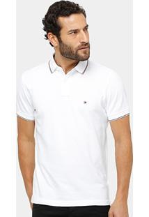 Camisa Polo Tommy Hilfiger Piquet Regular Fit Frisos Masculina - Masculino
