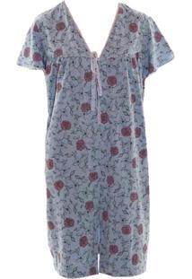 Robe Curto Rmb Lingerie Floral Azul