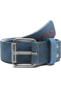 Cinto Calvin Klein Jeans Logo Azul