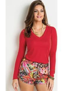 72d8d0e70e Blusa Moda Pop Vermelha feminina