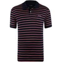 Camisa Polo Pierre Cardin Fio Escócia Navy Rose Stripes Masculina -  Masculino-Rosa+Marinho 078551cdbdded
