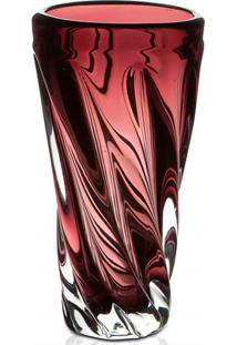 Vaso Em Vidro Unique 25Cm Roxo