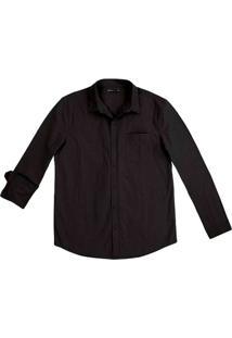 Camisa Básica Masculina Mangas Longas Super Slim