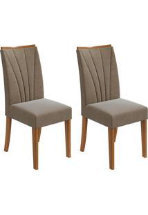 Conjunto Com 2 Cadeiras Apogeu L Rovere E Marrom